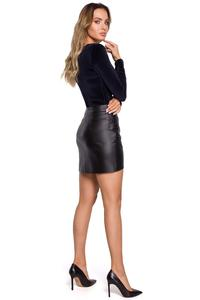 Black Eco Leather Skirt
