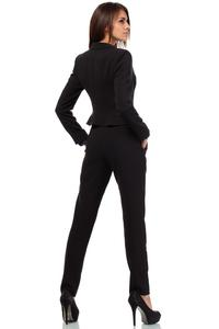 Black Short Elegant Peplum Ladies Blazer
