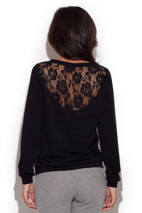 Black Outgoing Style Woman Shirt Sweater