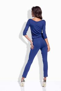 Dark Blue Slim Legs Ladies Jumpsuit