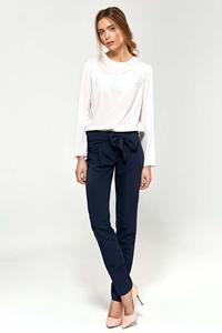 Elegant Navy Pants with Bow