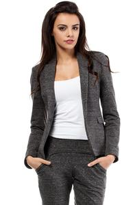Dark Grey Slim Waist Classic Ladies Blazer