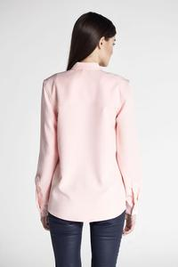 Pink Classic Long Sleeved Shirt with Big Pockets