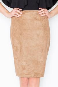 Brown Pencil Suede Imitation Skirt