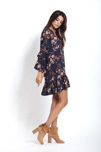 Flowered Mini Dress Boho Style