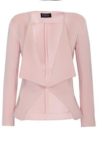 Pink Long Lapels Blazer with V-Front Hemline