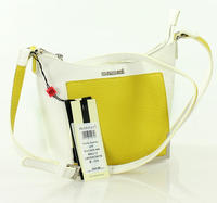 White&Lime Long Single Shoulder Strap Bag