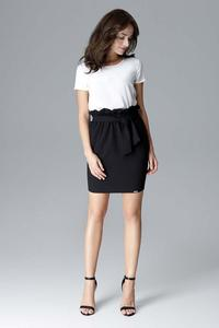 Black Mini Wrinkled Skirt