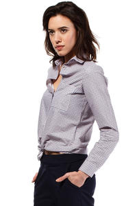 Pink Classic Long Sleeves Patterned Shirt