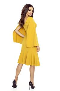 Honey Dress With Frill and Tippet