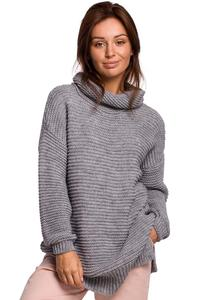 Women's Oversize Turtleneck Sweater - Gray