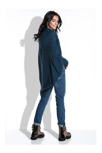 Dark Blue Bat Sleeves Cardigan