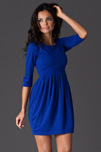 Blue Hourly Bodice Hippie Pleat Dress