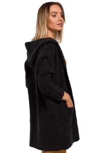 Warm Oversized Sweater with Hood (Anthracite)