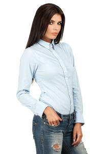 Blue Sky Dapple Collar Office Shirt