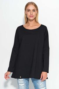 Black Thin Round Neckline Jumper