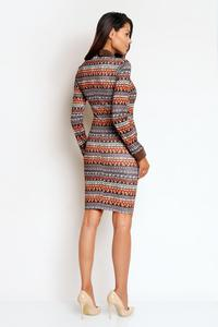 Boho Pattern Bodycon Fit Shirts Style Collar&Cuffs Dress