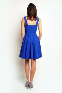 Blue Heart Shape Neckline Coctail Dress