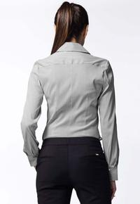 Black Striped Work Shirt for Women