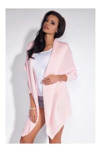 Pink Long Stylish Cardigan