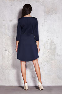 Dark Blue Enthralling Corporate Mullet Dress