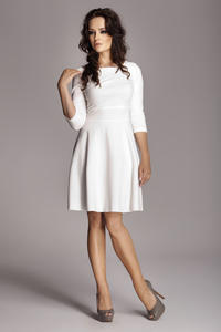 Ecru Giggly Fashion Flared Skirt Dress