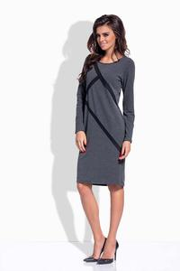 Dark Grey Classic Casual Dress