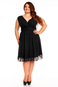 Black Elegant Evening Romantic Party Dress PLUS SIZE