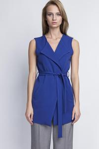 Blue Stylish Ladies Vest with a Belt