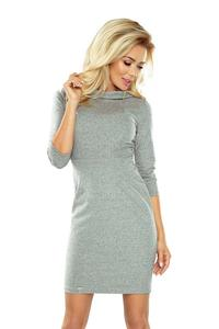 Grey Mini 3/4 Sleeves Dress
