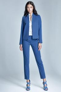 Blue Office Style Cigarette Trousers