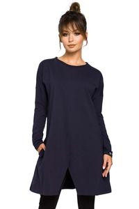 Navy Blue Flared Casual Tunic
