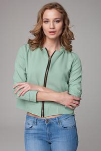 Green Thin&Short Stand-up Collar Jacket