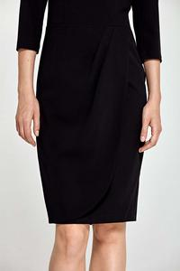 Black Classic Office Style Dress