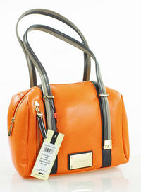Orange Comfy Long Striped Handles Bag