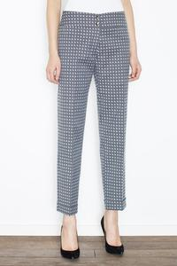 Grey Elegant Cuffs Edging Trousers