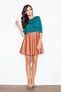 Green/Brown Miss Delighted Kelly Skater Dress