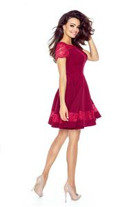 Maroon Coctail Dress with Lace