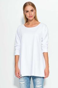 White Thin Round Neckline Jumper