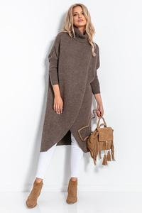 Espresso Turtleneck Long Sweater