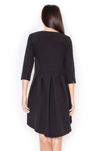 Black Elegant Irregular Hem Salsa Dress