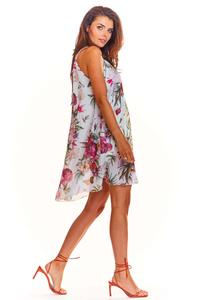 White Flowered Dress Summer Style