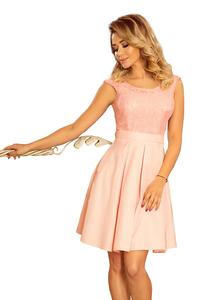Light Pink Evening Dress with Lace