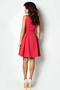 Red Light Pleats Coctail Dress