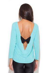 Light Blue Coffee Time Classic Blouse