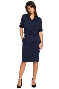 Dark Blue  Knee Length Casual Dress