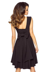 Black Deep Back Prom Dress with Bow