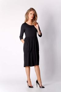 Black Knitted Casual Christmas Dress