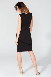 Black Asymmetrical Sleeveless Blouse