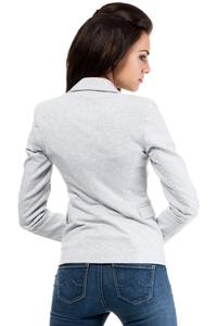 Light Grey Slim Waist Classic Ladies Blazer